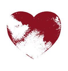 grunge heart isolated vector image