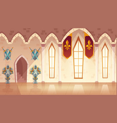 hall in medieval castle royal ballroom vector image