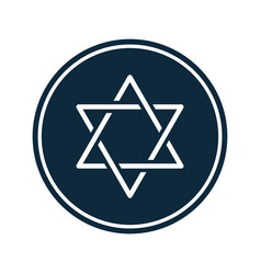 Hanukkah star david badge decoration vector