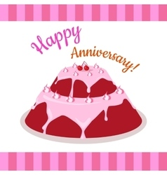 Happy Anniversary Strawberry Pie Multi Level vector