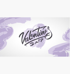 happy valentines day hand written lettering text vector image