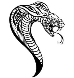 Head cobra black and white vector