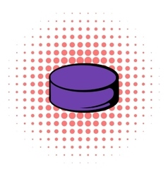 Hockey puck icon comics style vector