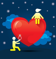 Human Symbol Love Story Marry Concept vector