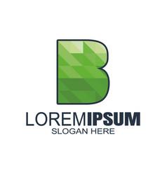 Initial letter b logo design template vector