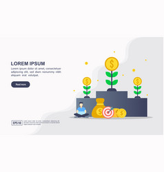 Landing page template invest in best idea vector