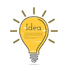 Light Bulb Icon with Idea Concept vector
