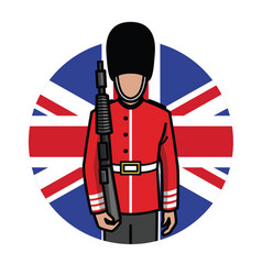 London foot guard vector