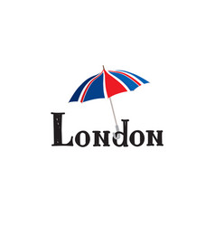 London sign hand lettering british jack flag vector