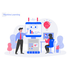 machine learning concept modern flat design vector image