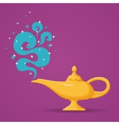 Magic aladdin lamp vector