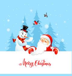 merry christmas inscription vector image