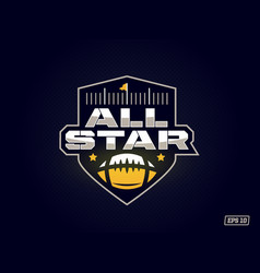 modern professional emblem all star for american vector image