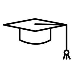 mortarboard icon isolated on white background vector image
