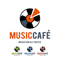 music cafe logo vector image