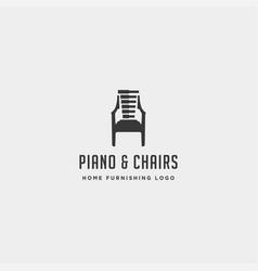 Music furniture logo design icon icon element vector