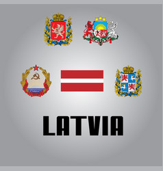 official government elements of latvia vector image
