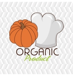 organic food chef hat vector image