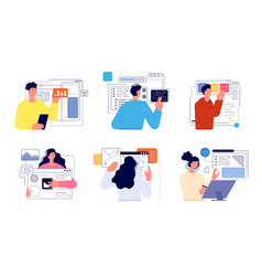 People develop app web development developer vector