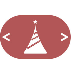 Pictograph of christmas tree vector