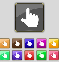 pointing hand icon sign Set with eleven colored vector image