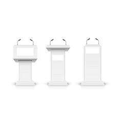 realistic detailed 3d white blank podium tribune vector image