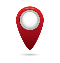 red empty navigation map pointer marker icon vector image