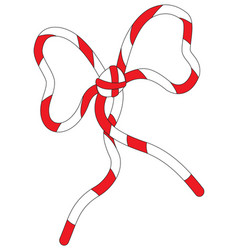 Red white bow knot vector