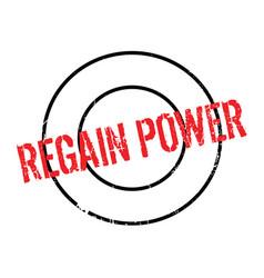 Regain power rubber stamp vector