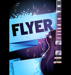 rock festival concert with guitar vector image