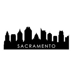 Sacramento skyline silhouette black sacramento vector