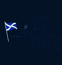 scotland on europe map high quality map europe vector image