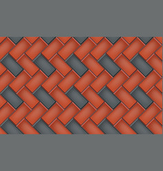 Seamless pattern cobblestone pavers vector