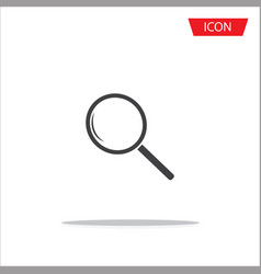 search icon magnifying glass icon vector image