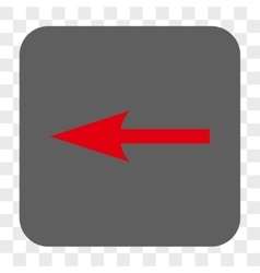 Sharp Arrow Left Rounded Square Button vector