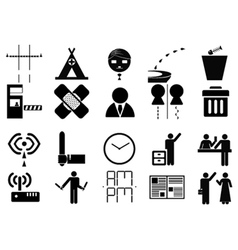 Sign system icon vector