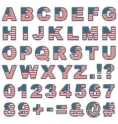 Stitched usa alphabet vector