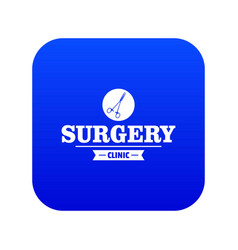 Surgery clinic icon blue vector