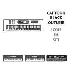 synthesizer icon in cartoon style isolated on vector image