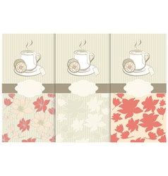 Tea labels and place for text vector