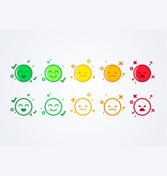 user experience feedback smiley emoticons vector image