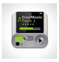 vector mp3 player xxl icon vector image vector image