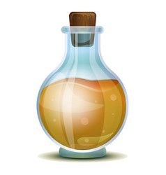 Vinegar flask icon cartoon style vector