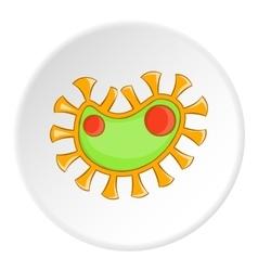 Virus icon cartoon style vector image