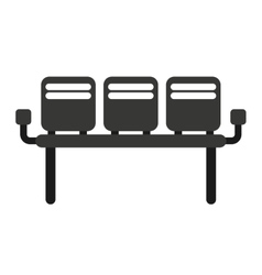 Waiting room chairs isolated icon vector