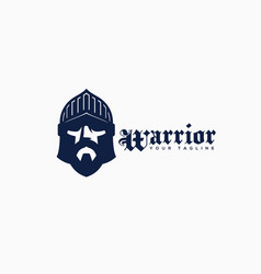 warrior logo vector image