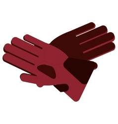 winter gloves icon vector image