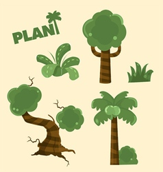 wood plant cartoon vector image