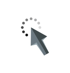 Cursor arrow waiting icon flat style vector image vector image