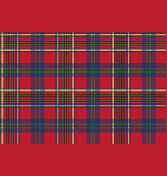 green red classic tartan check seamless fabric vector image vector image